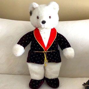 """Plush White Tuxedo TeddyBear 23"""" Tall"""